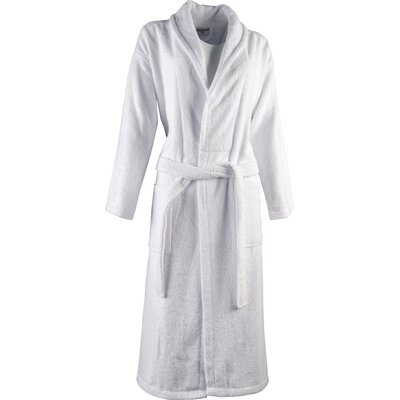 Luxury 100% Turkish Cotton Light-Weight Shawl Collar Terry Bathrobe Size: Medium/Large