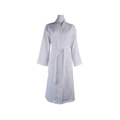 Luxury 100% Turkish Cotton Light-Weight Kimono Terry Bathrobe Size: Large/Extra Large