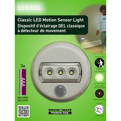 Classic Motion Sensor LED 3-Light Night Light