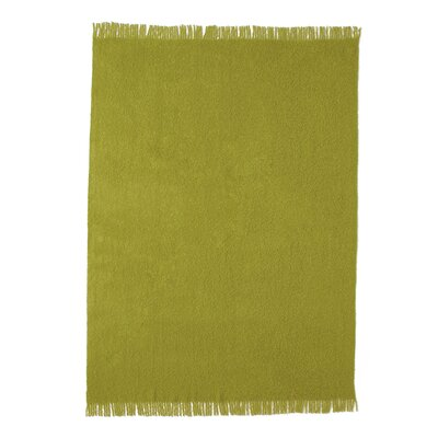 Boucle Baby Alpaca Woven Throw Color: Lime Green