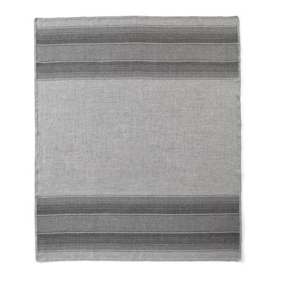 Baby Alpaca Woven Throw Color: Dark Grey/Light Grey