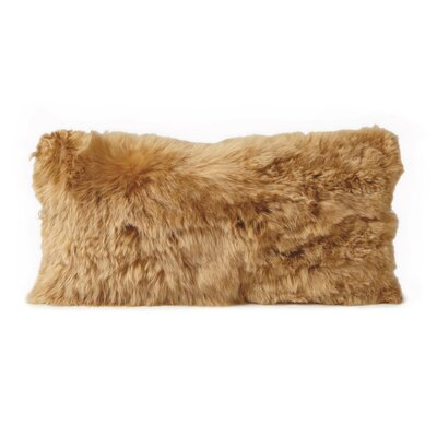 Alpaca Lumbar Pillow Color: Gold