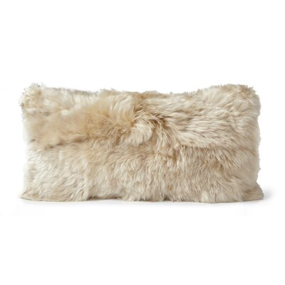 Alpaca Lumbar Pillow Color: Linen