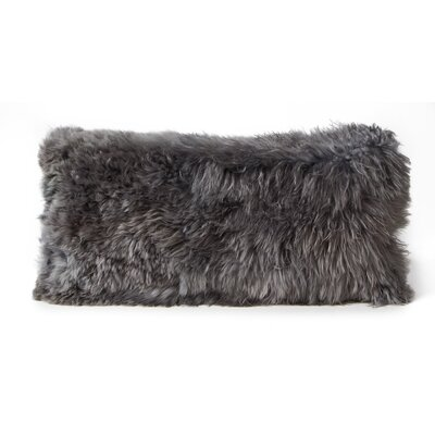 Alpaca Lumbar Pillow Color: Silver