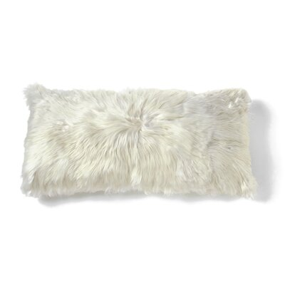 Alpaca Lumbar Pillow Color: Ivory