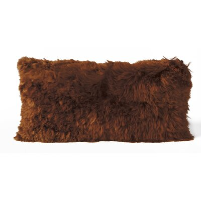Alpaca Lumbar Pillow Color: Copper