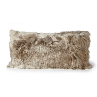 Alpaca Lumbar Pillow Color: Vole