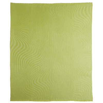 Waves Baby Alpaca Woven Throw Color: Green Leaf
