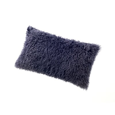Wool Lumbar Pillow Color: Charcoal