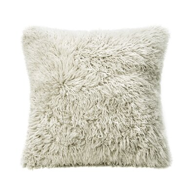 Curly Sheepskin Throw Pillow Color: Bamboo