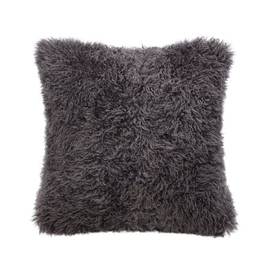 Curly Sheepskin Throw Pillow Color: Jarrah