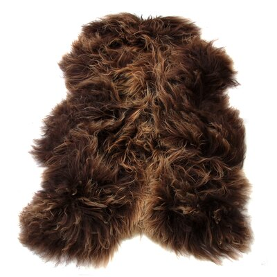 Icelandic Pelt Rusty Brown Area Rug