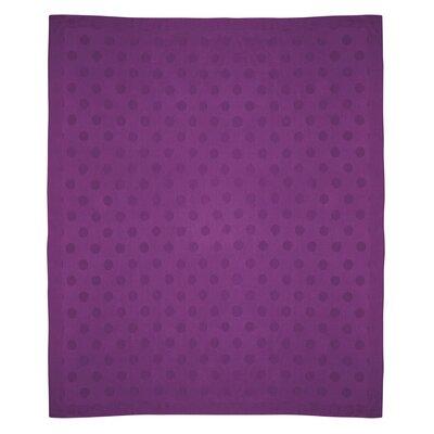 Dots Baby Alpaca Woven Throw Color: Purple