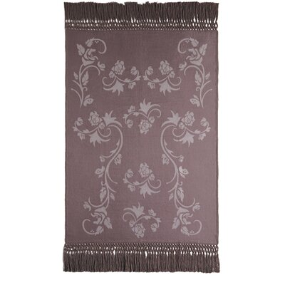 Vines Baby Alpaca Woven Throw Color: Oyster/Latte