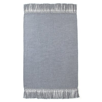 Cool Baby Alpaca Woven Throw Color: Blue Grey