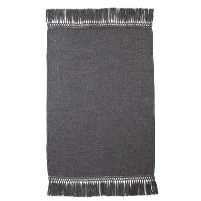 Cool Baby Alpaca Woven Throw Color: Charcoal