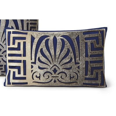 Serene Lumbar Pillow Color: Blue
