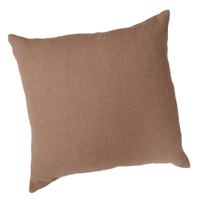 Basket Weave Throw Pillow Color: Camel