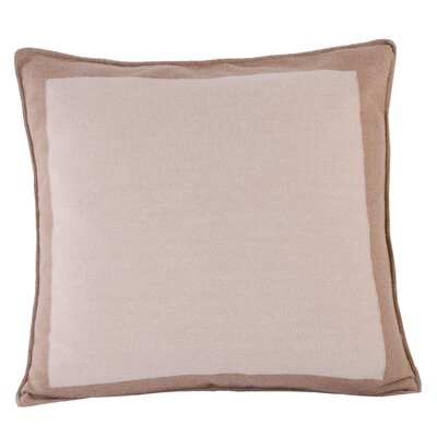 Border Linen Throw Pillow Color: White Center/Dark Border