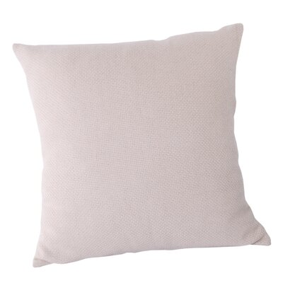 Basket Weave Throw Pillow Color: White