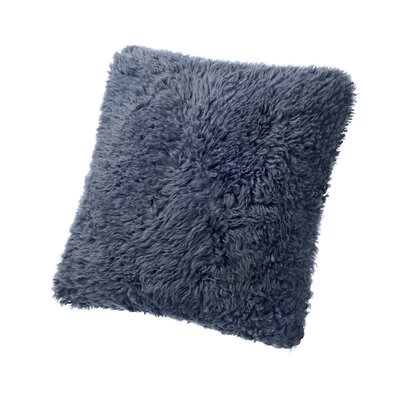 Curly Sheepskin Throw Pillow Color: Charcoal