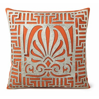 Linen Throw Pillow Color: Orange