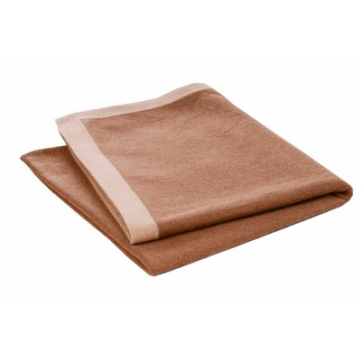 Border Camel Hair Woven Throw Color: Dark Center/Light Border