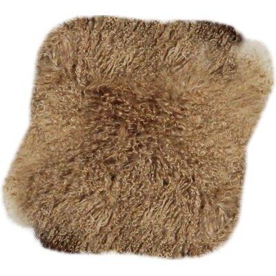 Velvet Throw Pillow Size: 16 H x 16 W, Color: Dune