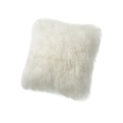 Velvet Throw Pillow Size: 16 H x 16 W, Color: Ivory