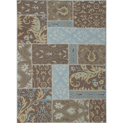 Patchwork Mid Brown Area Rug