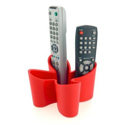 Cozy Remote Control Caddy Color: Red