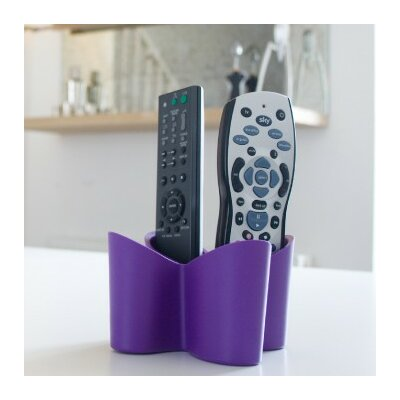 Cozy Remote Control Caddy Color: Purple