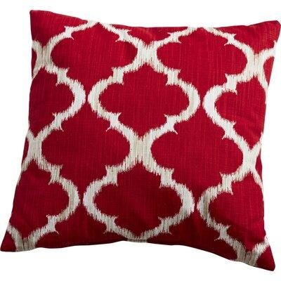 Trellis Throw Pillow Color: Cherry