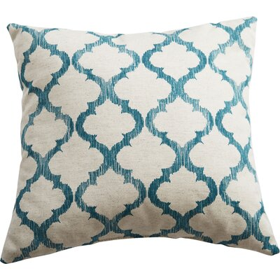 Fullwood Linen Throw Pillow Color: Teal