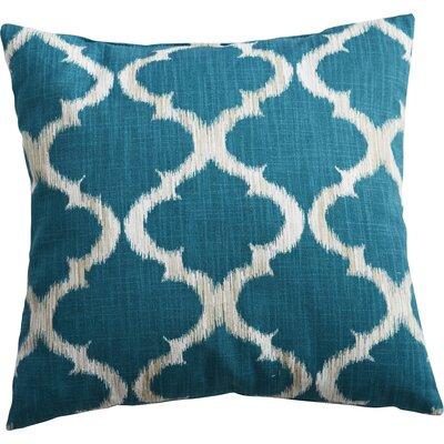 Caine Trellis Throw Pillow Color: Teal