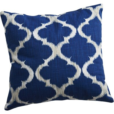 Caine Trellis Throw Pillow Color: Marine