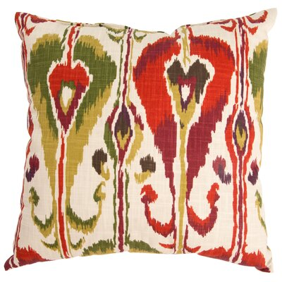 Ikat Bands Cotton Throw Pillow Color: Fuchsia