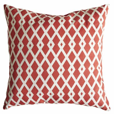 Graphic Fret Cotton Throw Pillow