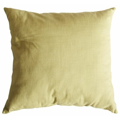 Slubbed Weave Cotton Throw Pillow