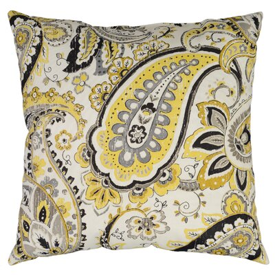 Hadia Throw Pillow Color: Goldmine