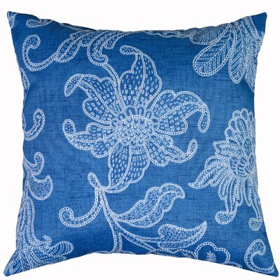 Ellie Throw Pillow Color: Baltic