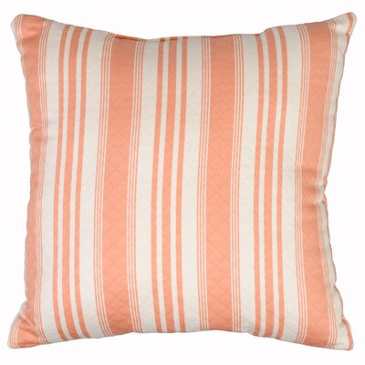 Millers Hill Throw Pillow Color: Coral