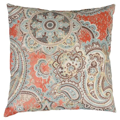 Allouez Throw Pillow Color: Cinnabar