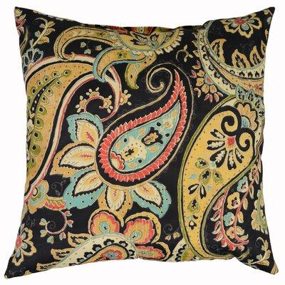 Hadia Throw Pillow Color: Noir