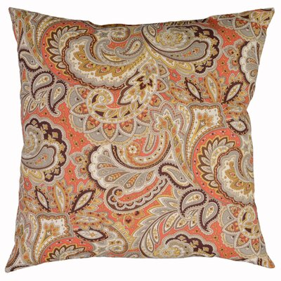 Maxime Throw Pillow Color: Redwood