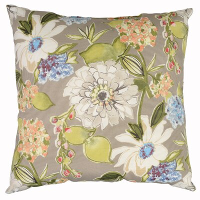 Pierette Throw Pillow Color: Pewter