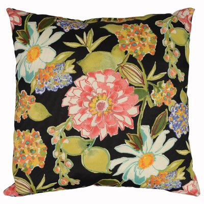 Pierette Throw Pillow Color: Licorice