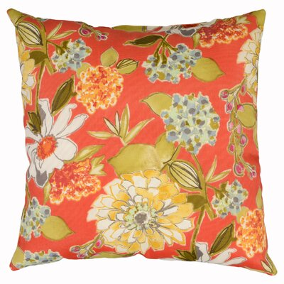 Pierette Throw Pillow Color: Vermillion