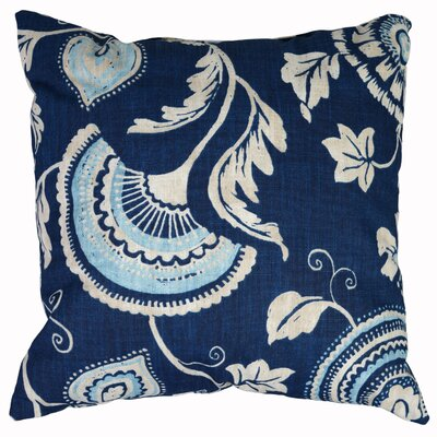 Mauritius Cotton Throw Pillow Color: Cobalt