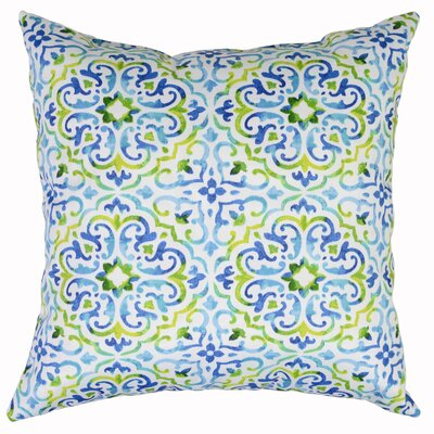 Reina Throw Pillow Color: Capri
